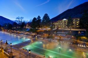 Glenwood Hot Springs Spa located in Glenwood Springs, Colorado
