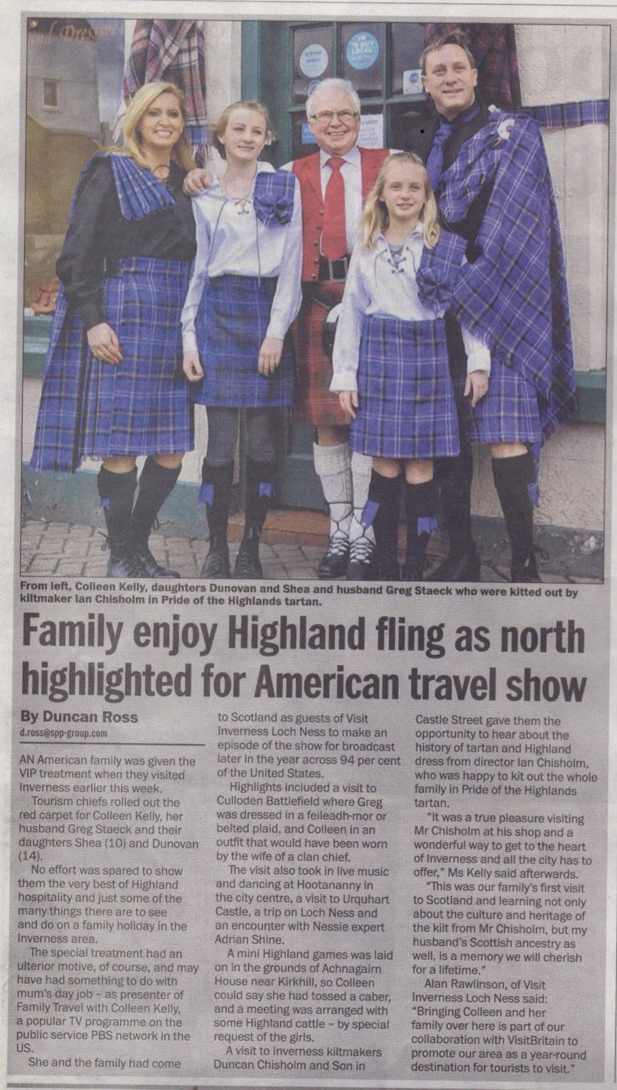 Family Travel @ Chisholms Kiltmakers