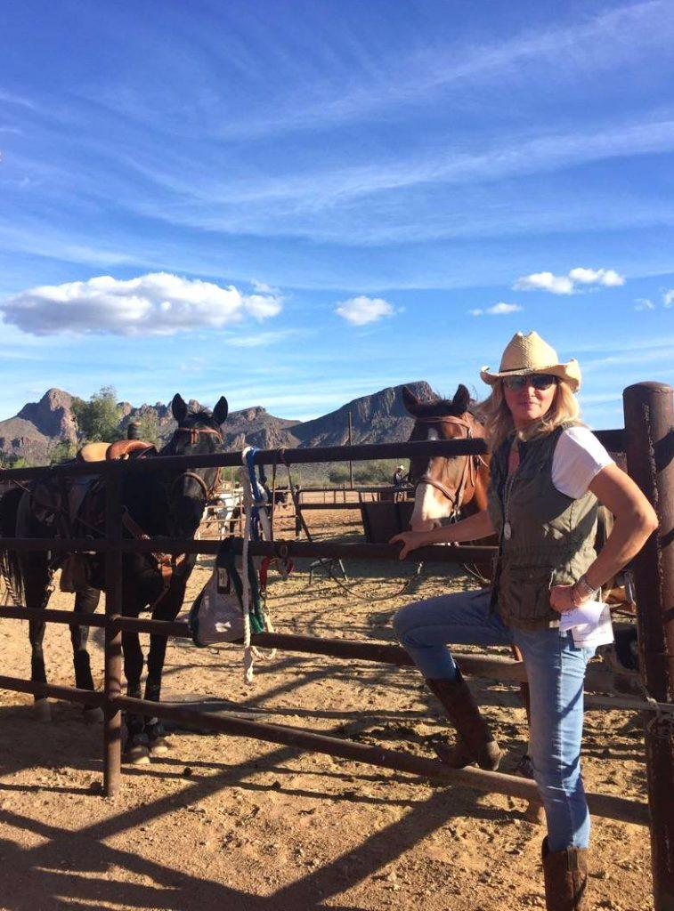Horseback riding at the White Stallion Ranch in Tucson, AZ
