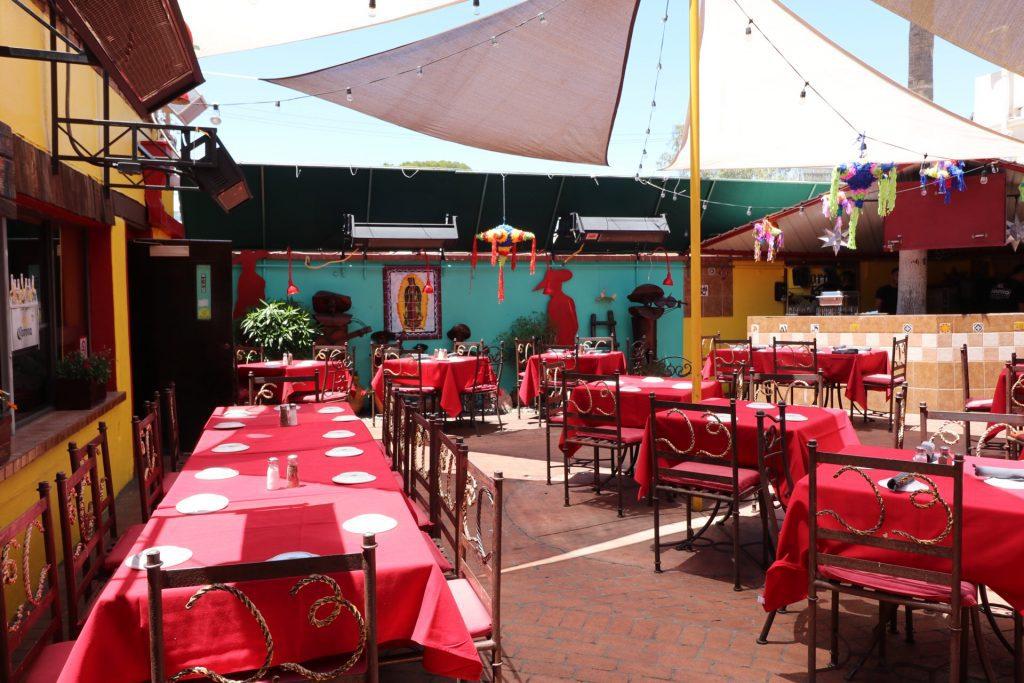 El Charro's outdoor seating area in Tucson, Arizona