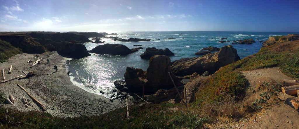 Beaches of California in Mendocino County, California