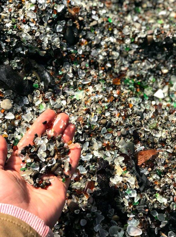Glass Beach near Fort Bragg in Mendocino County, California