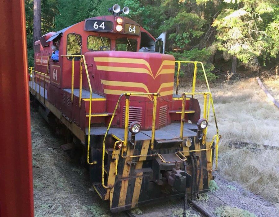 Skunk Train Line in Mendocino County, California