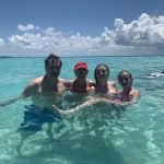 Family in ocean during MSC Cruise to Jamaica and Cozumel