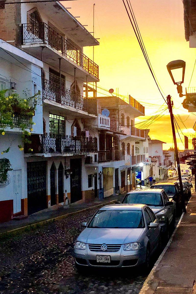 Street scene in Puerto Vallarta, Mexico