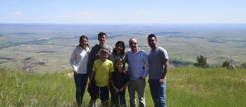 The Mahar family in the Grand Tetons